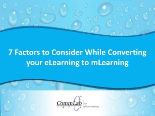 7 Factors to Consider While Converting eLearning to mLearni
