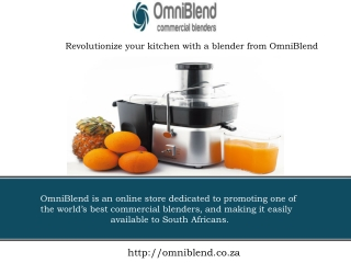 Revolutionize your kitchen with a blender from OmniBlend