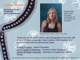 Cyndie Myers - Portfolio 2014