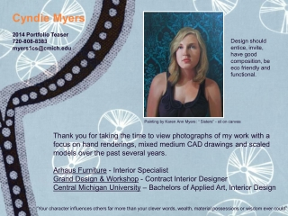 Cyndie Myers- Professional Portfolio 2014