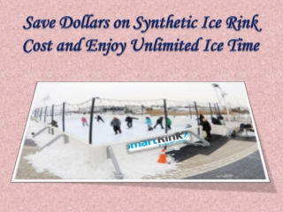 Save Dollars on Synthetic Ice Rink Cost and Enjoy Ice Time