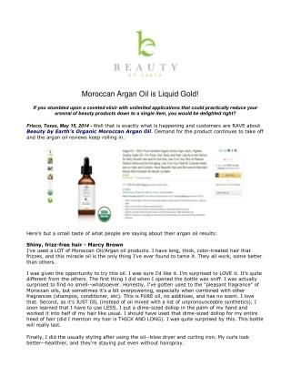 Moroccan Argan Oil is Liquid Gold!