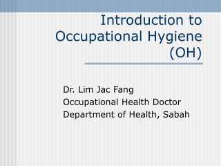 introduction to occupational hygiene
