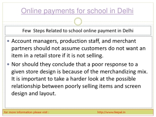 We put the latest information about online payment for schoo