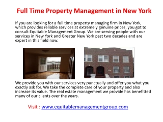 Real estate management New York