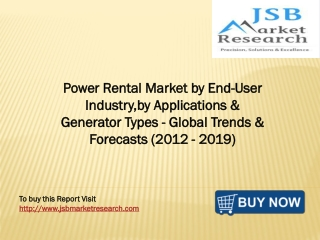 Power Rental Market by End-User Industry, by Applications