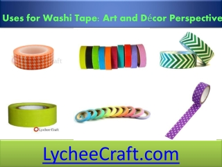 Uses for Washi Tape Art and D