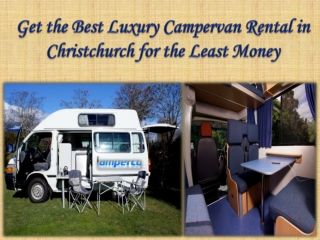 Get the Best Luxury Campervan Rental in Christchurch