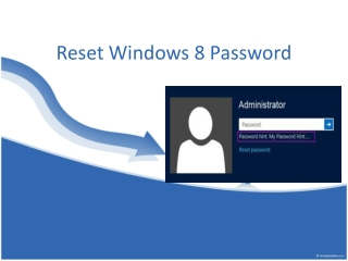 Workable Way to Reset Windows 8 Password
