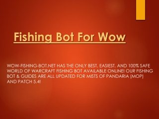 Fishing Bot For Wow