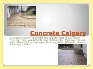 Concrete Contractor Calgary