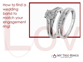 My Trio Rings Solitaire Engagement Ring