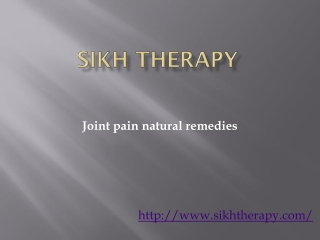 joint pain natural remedies