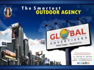 Advertising at railways in Mumbai, Maharashtra, India