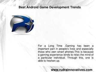 Best Android Game Development Trends