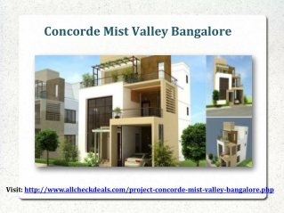 Concorde Mist Valley Residential Plots Bangalore