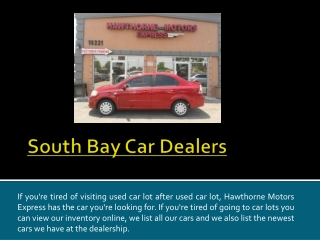 Hawthorne Used Car Dealerships