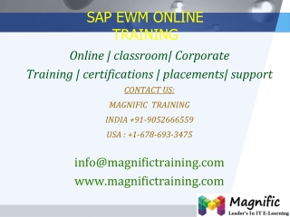 sap ewm online,training