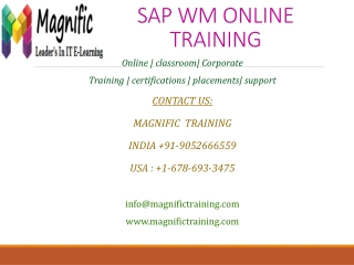 sap wm online training