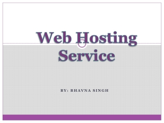 Brief Introduction to Web Hosting