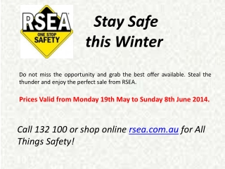 Safety Equipment from RSEA