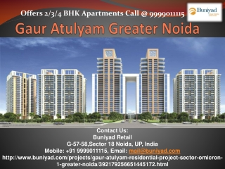 2-4 BHK Apartments for sale in Gaur Atulyam