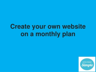 Sign up for free and try our simple website designer