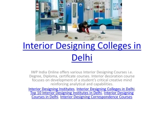 Interior Designing Colleges in Delhi