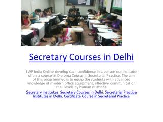 Secretary Courses in Delhi