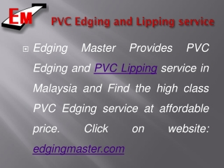 Edging Master Provides Furniture Fittings in Malaysia
