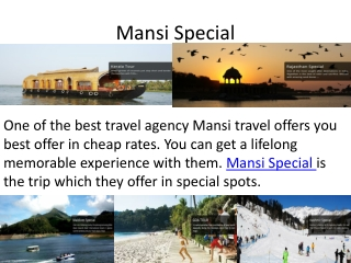 Mansi Travel is the Best Tour Operator in Delhi