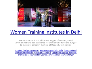 Women Training Institutes in Delhi