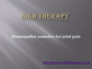 homeopathic remedies for joint pain