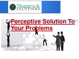Perceptive Solution To Your Problems