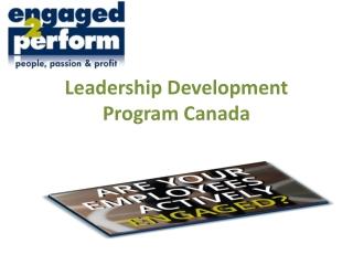 Leadership Development Program Canada