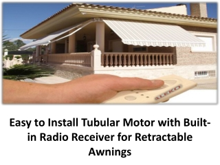 Easy to Install Tubular Motor with Built-in Radio Receiver f