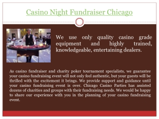 Casino Theme Party Chicago