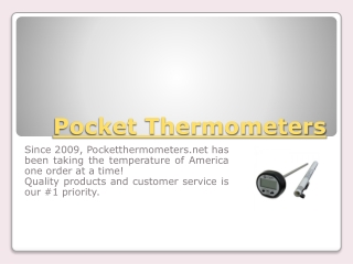 Cooking Thermometers