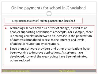 Click the next step online payment for school in Ghaziabad