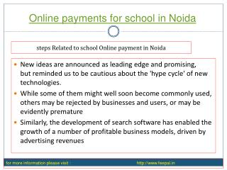Click the next step online payment for school in noida