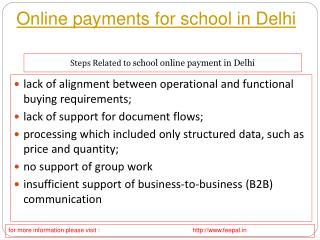 Process of online payment for school in Delhi through the in