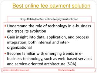 More information about best online fee payment solution