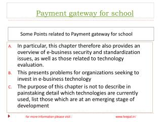Payment gateway for school