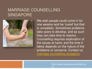 Marriage Counselling Singapore