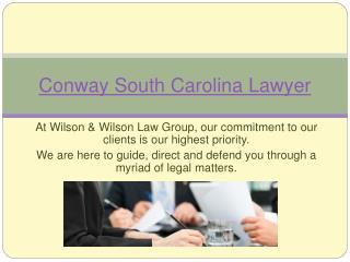South Carolina Lawyers Wilson