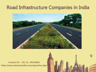 Road infrastructure companies in india