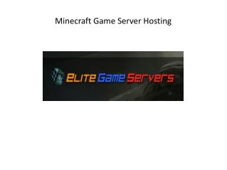 Minecraft Game Server Hosting