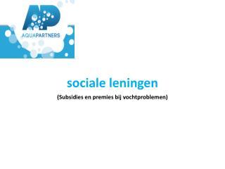 sociale leningen