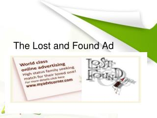 Book Lost and Found Ad
