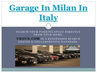 Garage in Venice in Italy